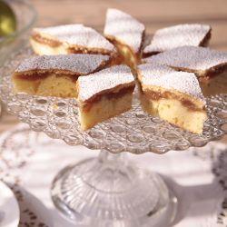 Photo recette : Szarlotka (gâteau polonais à la compote de pommes)
