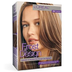 Frost & Design Precise Highlights (Caramel) - L'Oreal Paris. I don't use the cap they provide. I paint on my highlights by hand. But in any case, this product works really well.