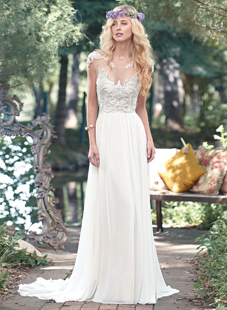 Maggie Sottero Wedding Dresses | Maggie sottero, Bateau neckline and ...