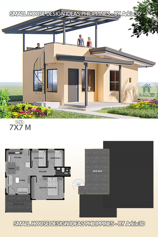 3 Bedrooms With Roof Deck Small House Design Ideas Row House Design Small House Architecture Small House Design Plans