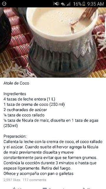 Atole de coco | Food | Pinterest | Cinnamon, Sticks and Cinnamon sticks