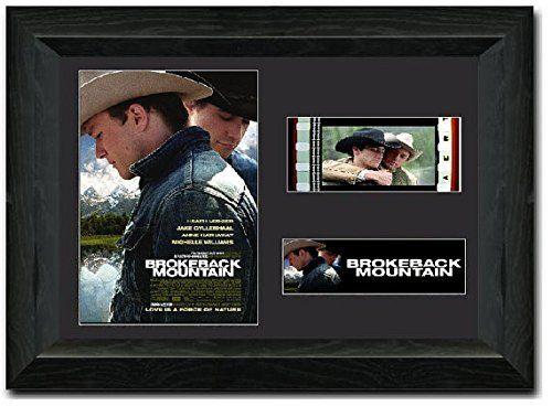 Jake Gyllenhaal Brokeback Mountain Film 35mm Cellule superbe écran encadrée meilleurs prix Heath Ledger