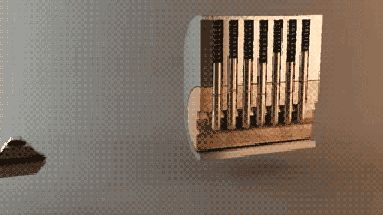 Animated cross-sectional view of how a standard lock and key work... so cool
