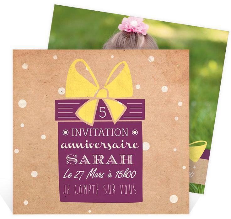 invitation anniversaire enfant pour que toute la famille et les amis couvrent votre petite de. Black Bedroom Furniture Sets. Home Design Ideas