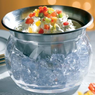 Keep dips, sauces and condiments properly chilled with the Iced Dip Bowl Set.
