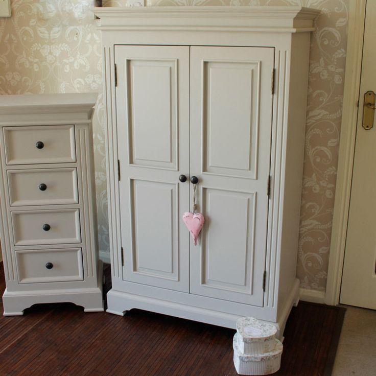 grey wooden wardrobe closet cupboard storage furniture childs bedroom linen