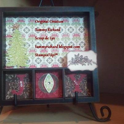 I created this last minute for a gift exchange at our Sparkledaisy SU x-mas party.