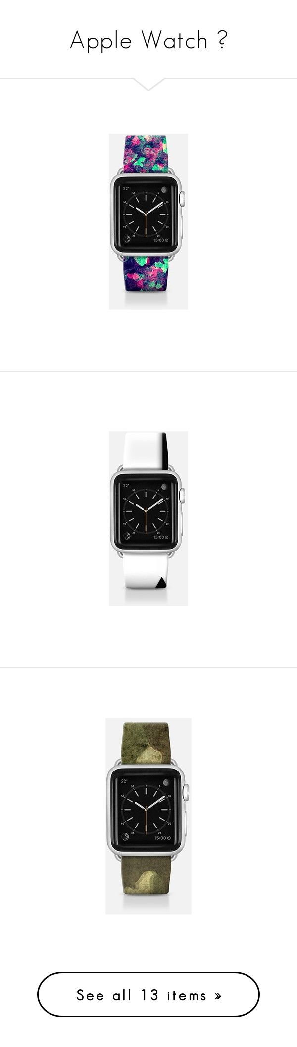 """Apple Watch ⌚"" by aniahrhichkhidd ❤ liked on Polyvore featuring jewelry, watches, apple watch band, teal watches, pink camo jewelry, camo watches, grunge jewelry, camouflage jewelry, urban watches and urban jewelry"