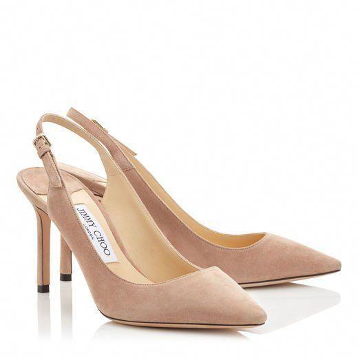 3e52397ec04a Jimmy Choo ERIN 85 ERIN 85 Ballet Pink Suede Sling-Back Pumps Sale Price   595  JimmyChoo