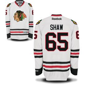 712080596bfd Get this Chicago Blackhawks Andrew Shaw White Premier Jersey w  Authentic  Lettering at ChicagoTeamStore.