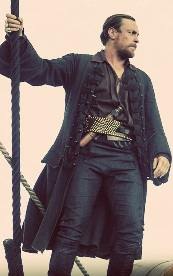 Captain Flint..his coats and belts are a thing of beauty.
