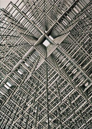 "François Morellet | ""Sphère-trame"" (detail), 1972"
