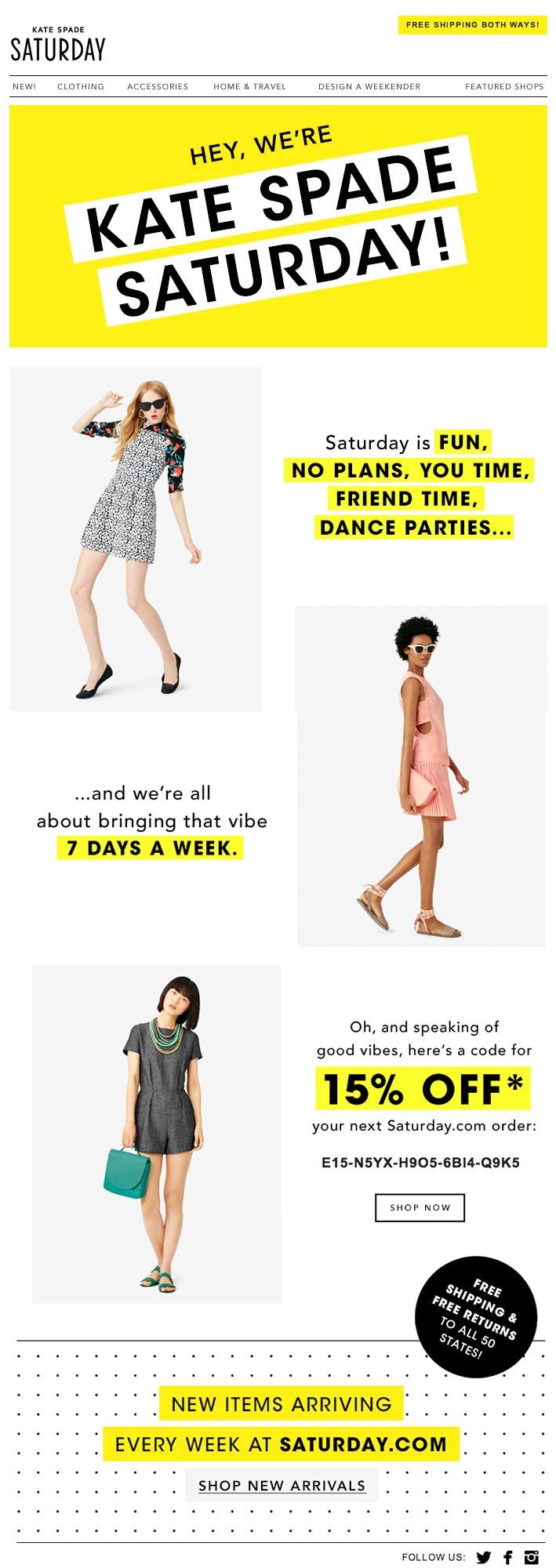 Kate Spade Saturday Email Design