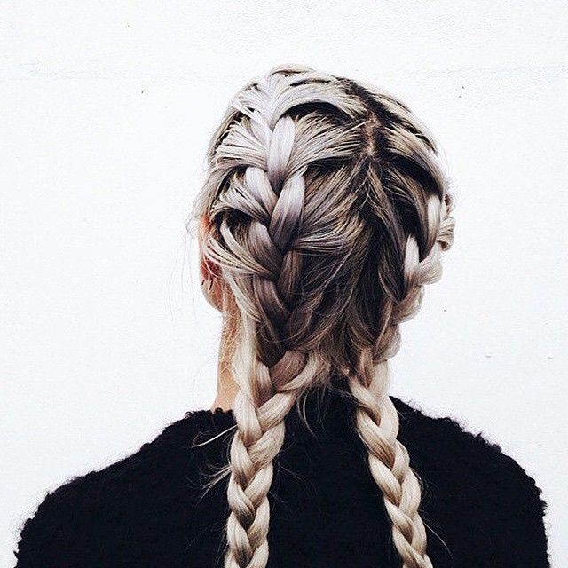 """Today's inspiration via @juliatrufin #braids #hairinspo"""