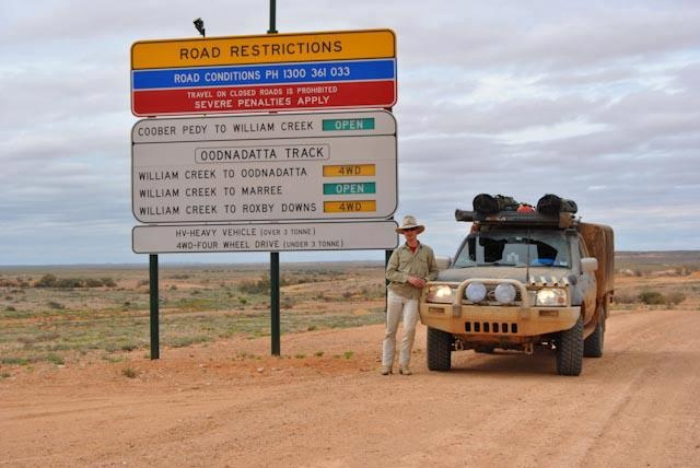 Driving in the outback - Australia
