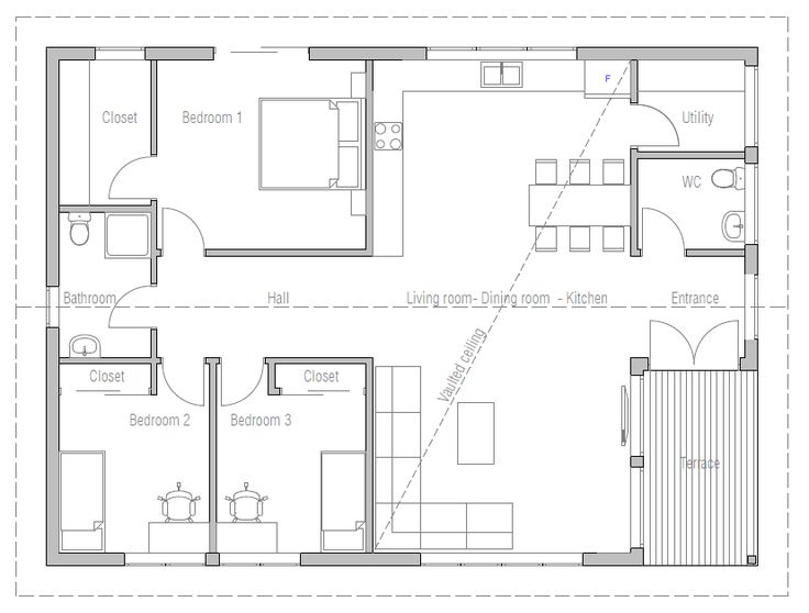 Small House Plan CH170, Minimalist Modern Contemporary Architecture | Floor  Plans | Pinterest | House Design, Contemporary Architecture And Home