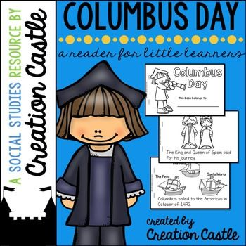 FREE! Use this printable reader to remind your students about the story of Christopher Columbus. This is a simple reader meant for a kindergarten or 1st grade student.Also included in this download, you will find quick and easy directions for creating a sailor hat (no template).If you like this resouce, check out my other printable readers here!*****************************************************************************Customer Ti...