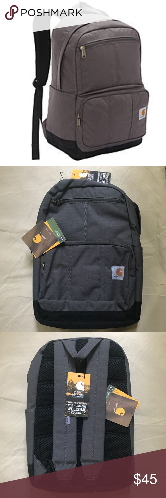 NWT Carhartt D89 series backpack Gravel gray NWT Carhartt D89 series backpack Gravel gray. 600D Ripstop exterior w/RainDefender durable water repellant. Excellent gift-giving condition or treat yourself! See pics for dimensions & features. NWT - unused condition. Smoke Free Home 🏡 Carhartt Bags Backpacks