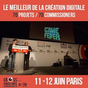 L'11 e il 12 giugno 64 progetti da 22 nazioni diverse verranno presentati ai Cross Video Days di Parigi: http://www.romawebfest.it/rwf/news-da-rwf/cross-video-days-di-parigi-11-e-12-giugno/