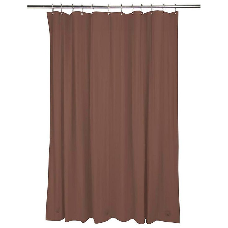 Bath Bliss Heavy Weight Mildew Resistant Shower Curtain Liner, Brown