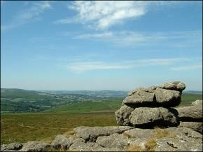 Haytor Rock, 45 mins away and the view in all directions is simply stunning...