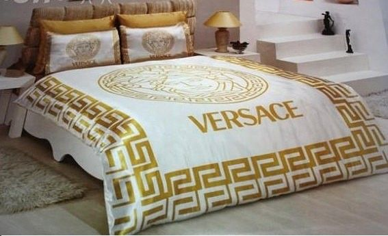 versace bettw sche g nstig billig gut preiswert king size satin seide bed set 6 teilig. Black Bedroom Furniture Sets. Home Design Ideas