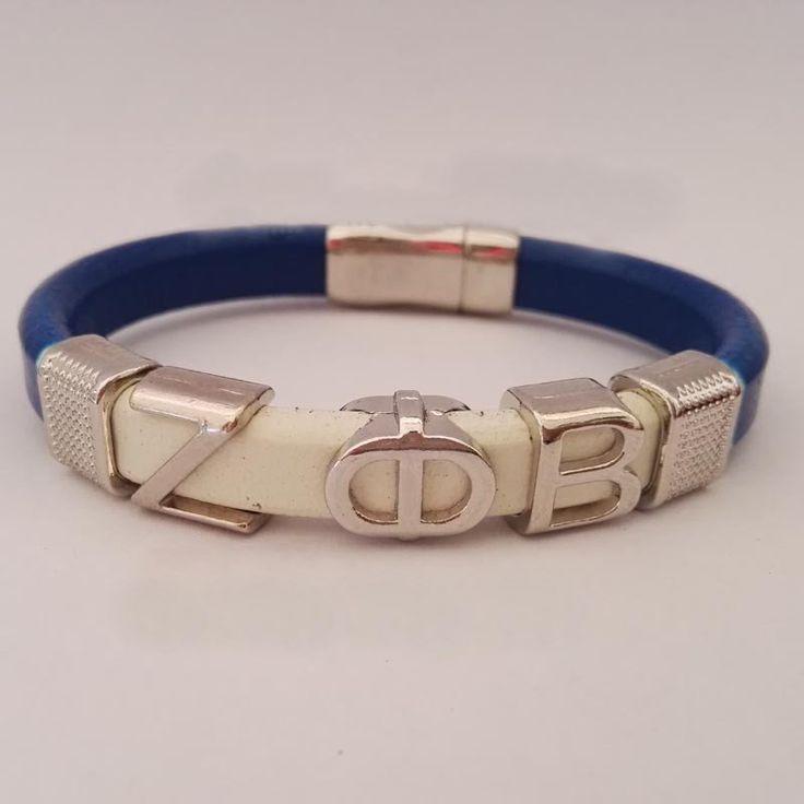 Zeta Phi Beta Sorority Divine Fraternity Leather Magnetic Bracelet Bangle