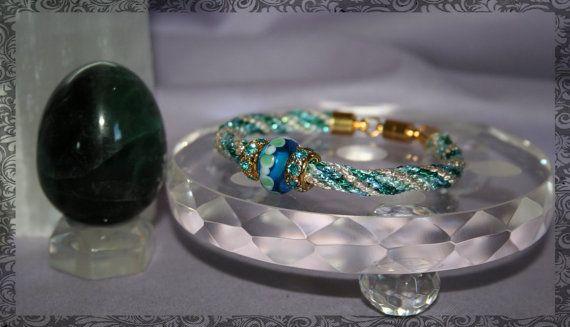 Lithia Waters Kumihimo Bracelet by LaHermosaBruja on Etsy