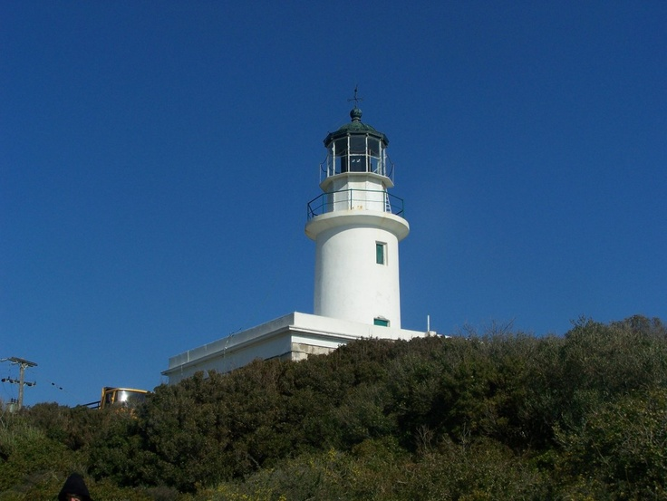 Lighthouse in Othonoi Islands in the Ionian Sea in Greece