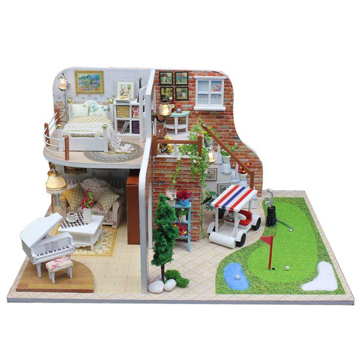 Diy Miniature Wooden Doll House Furniture Kits Toys Handmade Craft Miniature Model Kit DollHouse Toys Gift For Children X002