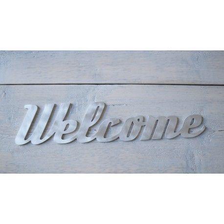 Scritta WELCOME per decorare la casa, l'ingresso, il salotto. Made in Italy, realizzazione artiginanale, La trovi su http://comprocomodo.it/lettere-e-scritte-decorative/890-scritta-welcome-per-decorare-la-casa.html  #scritta #welcome #alluminio #decorazione #casa #lettere #decorative #casa #ingresso