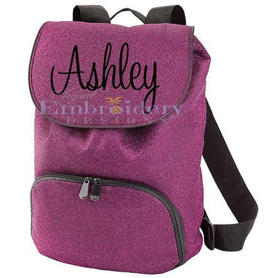 Monogrammed Cheer Backpack Custom Backpack by ElegantEmbDesigns