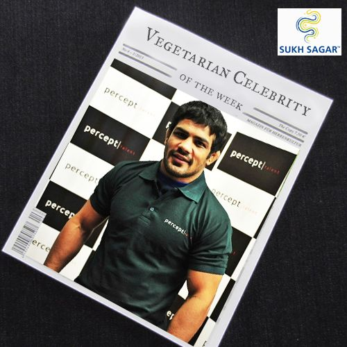 A Rajiv Gandhi Khel Ratna award winner, Sushil Kumar the Indian wrestler is strictly a vegetarian. Healthy inside, healthy outside!