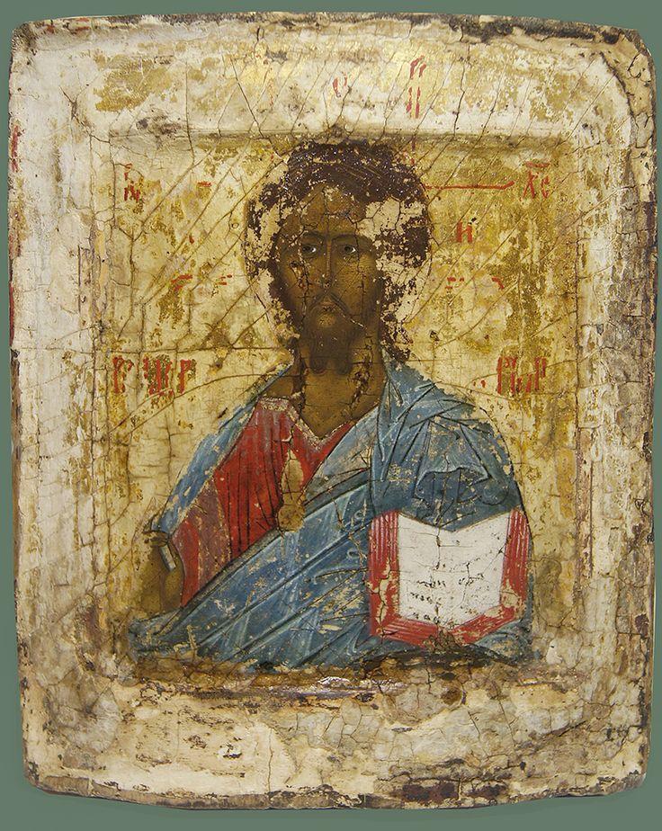 Старинная Икона «Господь Вседерджитель»  Середина – третья четверть XVIв. , рис.1