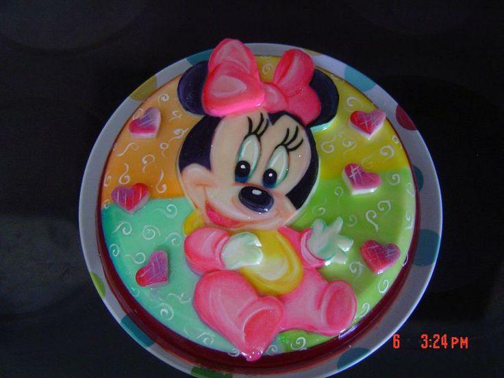 Gelatina de Minnie Minnie gelatin // Vilma Reyes Caracas Venezuela ...