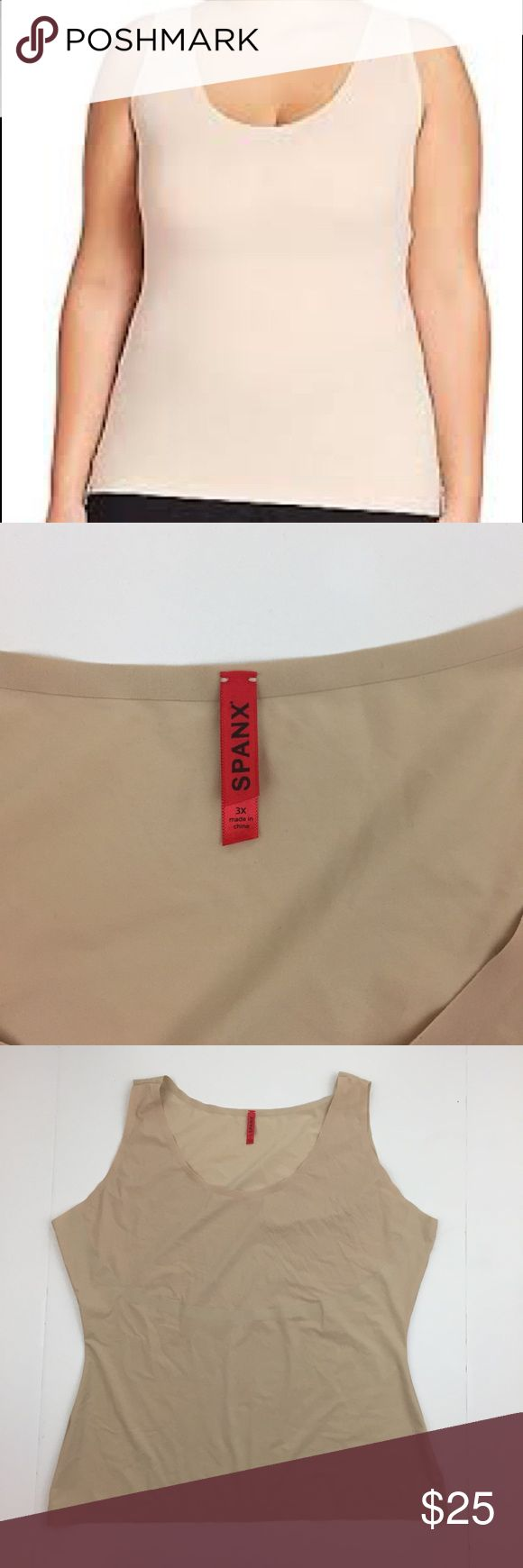 Spanx Thinstincts Tank/Camisole Nude 3X NEW Spanx 'Thinstincts' camisole in nude with scoop neck and light control fabric. Size 3X, nude, new without tag. Inside label marked to deter bogus store returns. SPANX Intimates & Sleepwear Shapewear