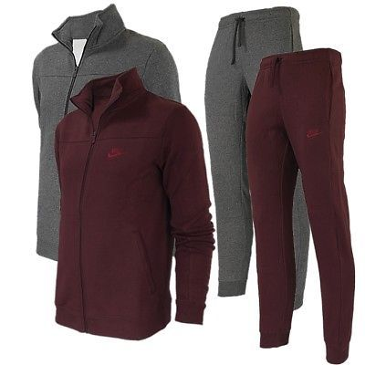 Track Suits 59339: Nike Nsw Flc Men S Track Suit Burgundy Gray Jogging Fitness Sports Suit New -> BUY IT NOW ONLY: $100.89 on eBay!