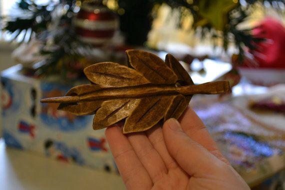 Blad houten haaraccessoires houten sjaal Pin moeder door tangram77