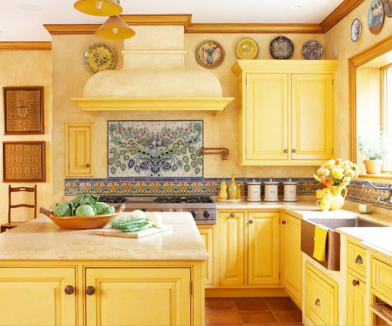 Best 25 blue yellow kitchens ideas on pinterest kitchen for Bright kitchen color ideas