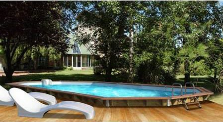 Piscine Bois Water Clip 840x370x129 Prenium prix promo soldes Maison Facile 5 979.00 € TTC