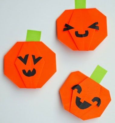 DIY Easy origami pumkins - halloweend craft for kids // Egyszerű vidám őszi origami tökök ( halloween dekoráció) // Mindy - craft tutorial collection // #crafts #DIY #craftTutorial #tutorial #Origami #OrigamiModels #PaperFolding #PaperCrafts