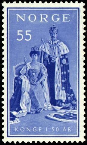 Norway, stamp of Queen Maud and King Haakon