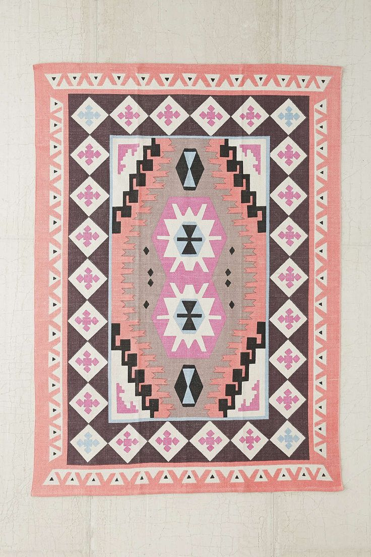 maybe spare bedroom Plum & Bow Karakum Printed Rug - Urban Outfitters $99