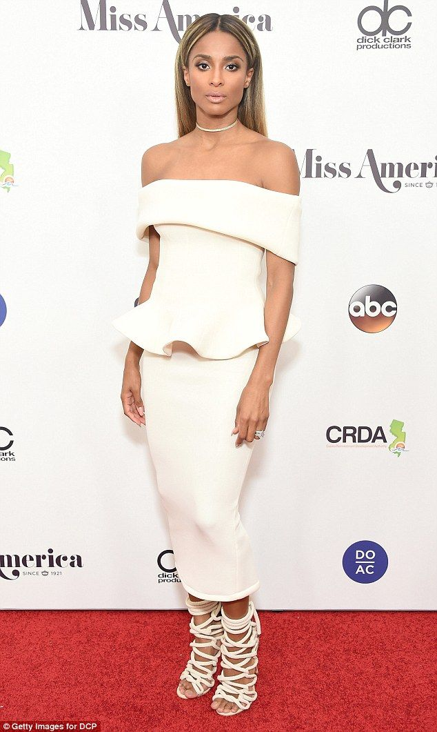 Bombshell: On Sunday, Ciara arrived at Boardwalk Hall in Atlantic City to serve as a celebrity judge for Miss America 2017
