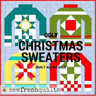 Quilt Alongs and BOMs - more ways to start faster than we finish! The Ugly Christmas Sweater quilt along