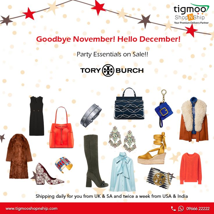 Goodbye November! Say Hello to December!! #Partyessentials at #Toryburch  #Exclusiveoffers
