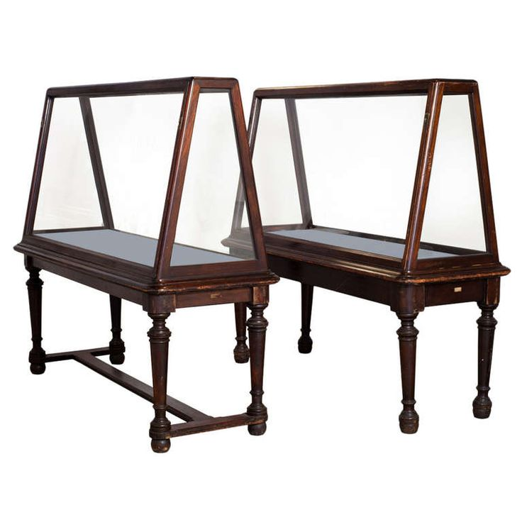 Large Oak Museum Display Cases | From a unique collection of antique and modern vitrines at http://www.1stdibs.com/furniture/storage-case-pieces/vitrines/