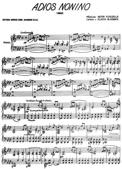 Adios Nonino 1 - Astor Piazzolla