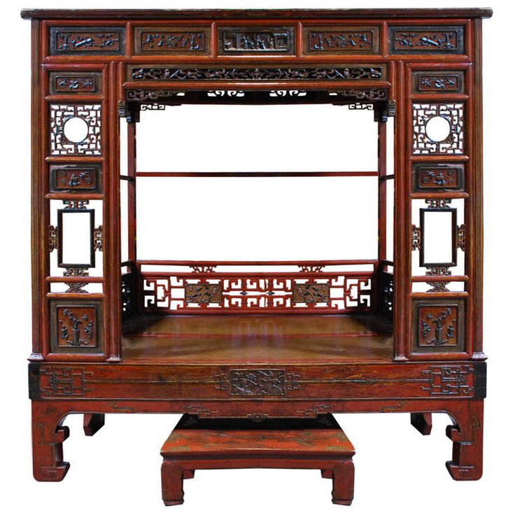 View This Item And Discover Similar Beds And Bed Frames For Sale At   A  Wonderful Red Canopy Bed From Northern China. This Bed Is Made Of Chinese  Northern ...