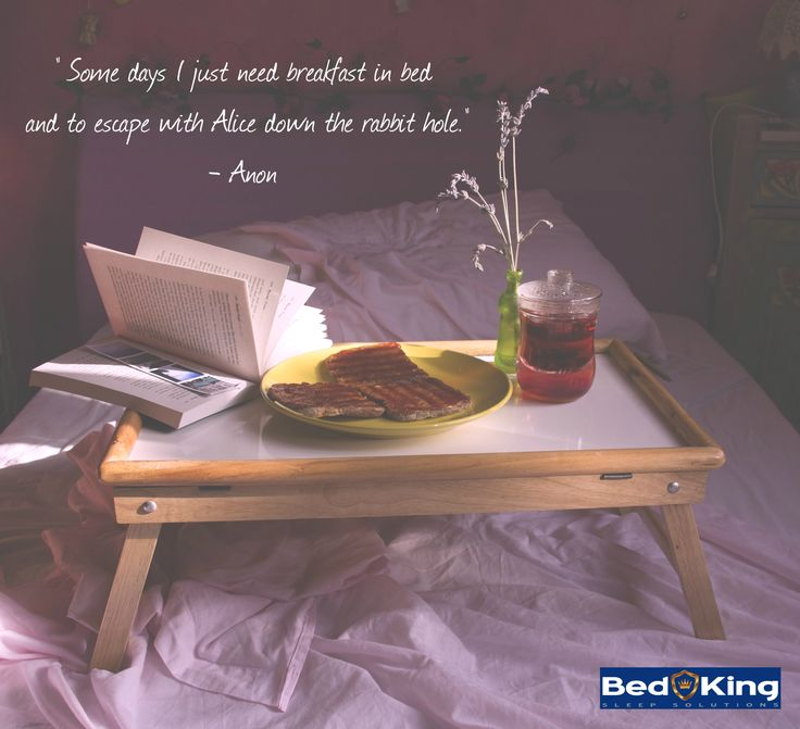 Breakfast in bed with a good book is such bliss!